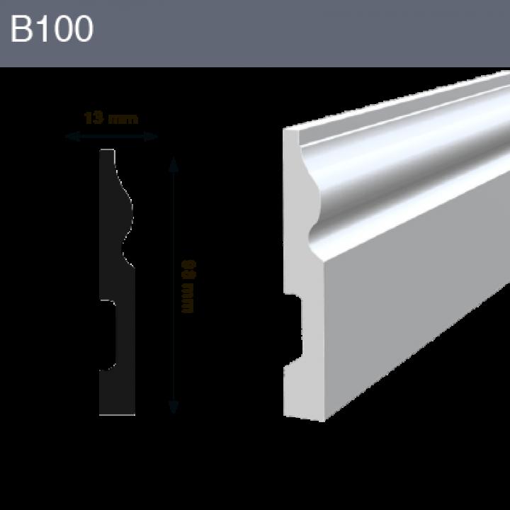 Напольный плинтус B100