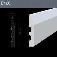 Напольный плинтус B120