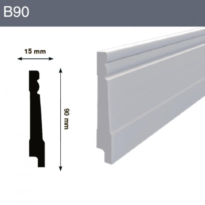 Напольный плинтус B90