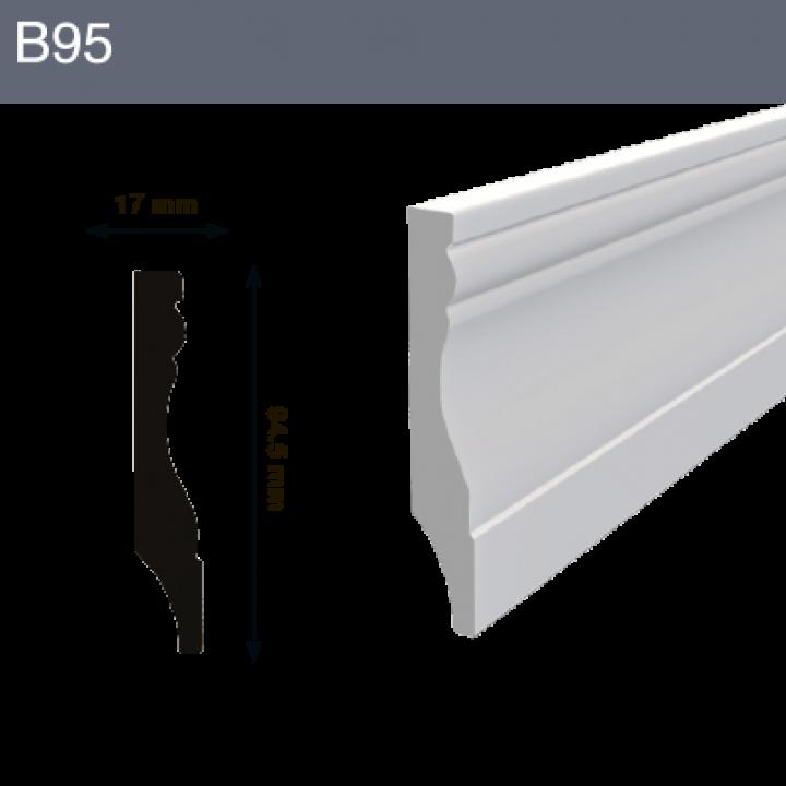 Напольный плинтус B95