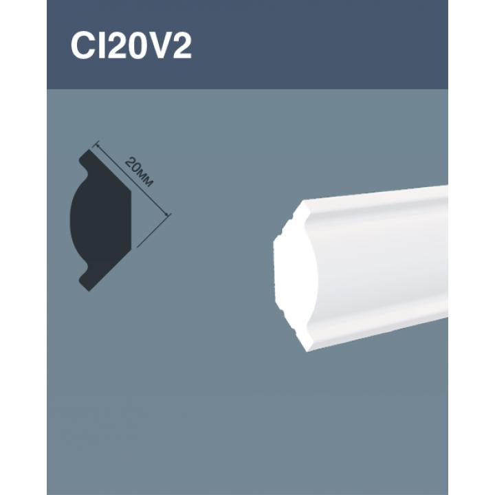 Потолочный плинтус CL20V2