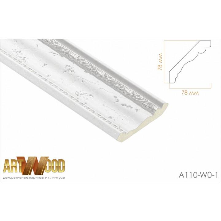 Потолочный плинтус A110-W0-1
