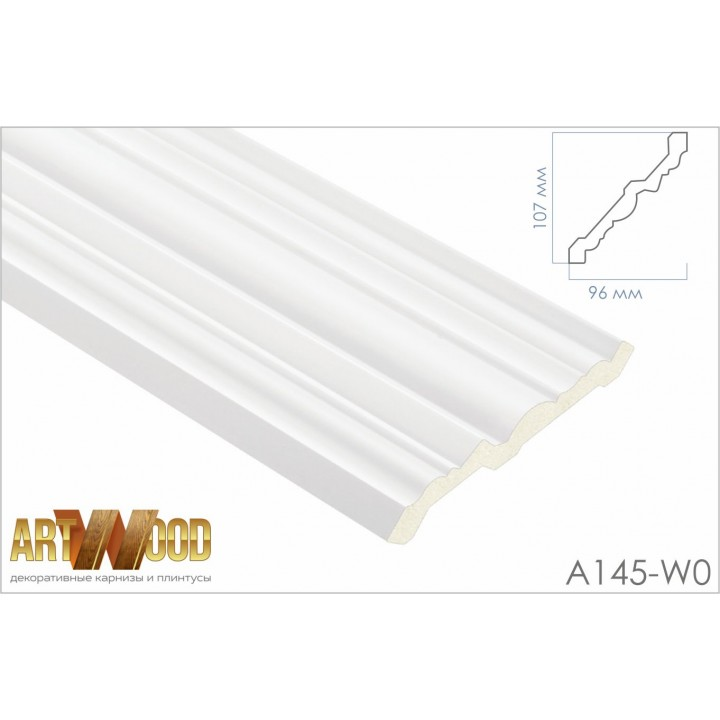 Потолочный плинтус A145-W0