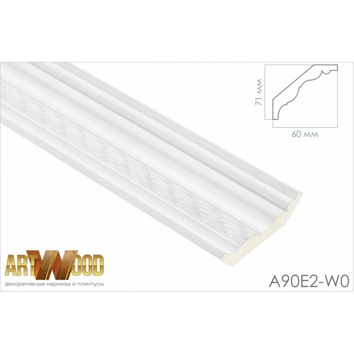 Потолочный плинтус A90E2-W0
