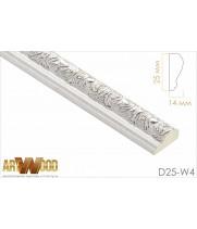 Декоративный молдинг D25-W4
